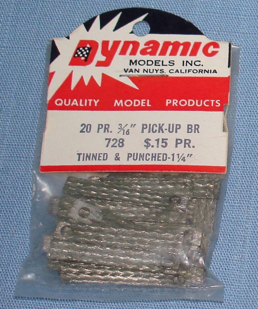 Dynamic Models 1:24 Slot Car Racing 20 Pair Pick-Up Braids Tinned & Punched #728