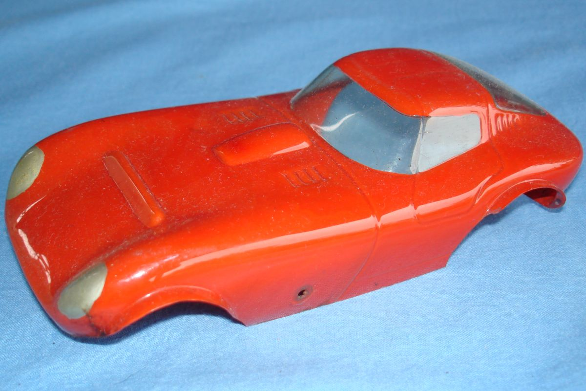Unknown Vintage 1:24 Scale Slot Car Racing Clear Painted Body Cheetah Hood