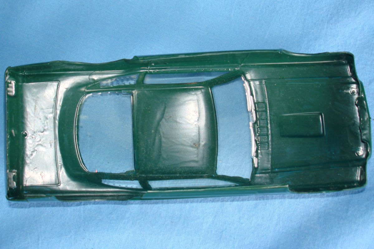 Unknown Vintage 1:24 Scale Slot Car Racing Clear Painted Body Ford Mustang Fastback Chassis