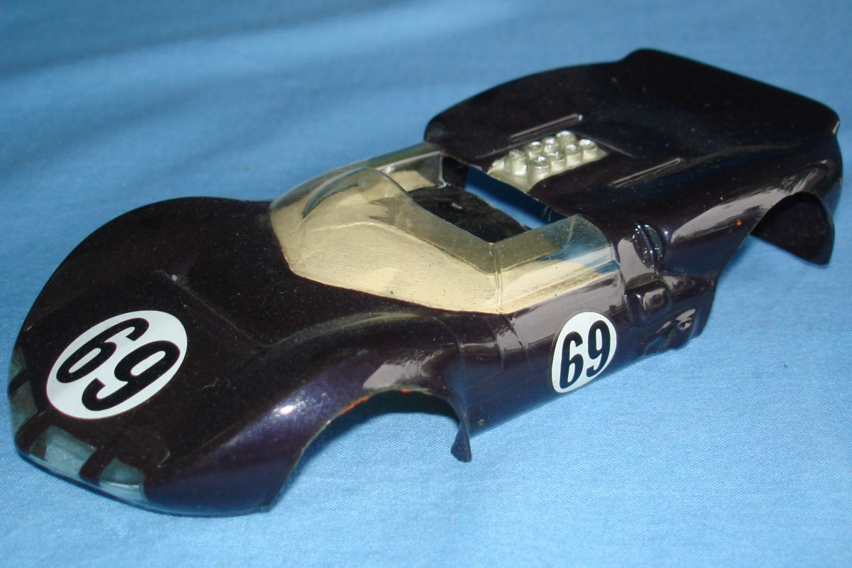 Unknown Vintage 1:24 Scale Slot Car Racing Clear Painted Body Chaparral Hood