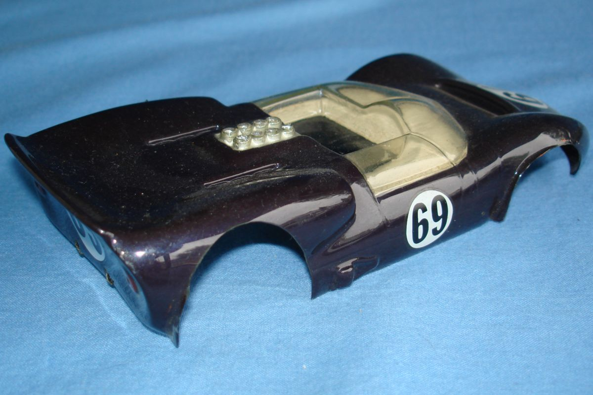 Unknown Vintage 1:24 Scale Slot Car Racing Clear Painted Body Chaparral Spoiler
