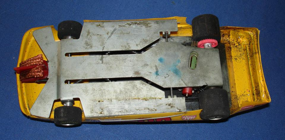 Vintage 1:24 Scale Slot Car Racing Custom Chassis Lexan Body NASCAR Stocker Angle Winder Chassis