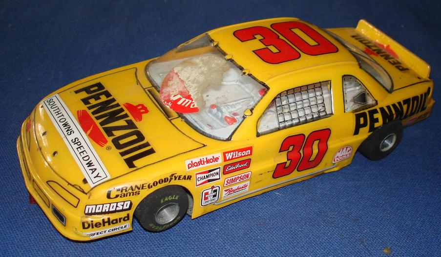 Vintage 1:24 Scale Slot Car Racing Custom Chassis Lexan Body NASCAR Stocker