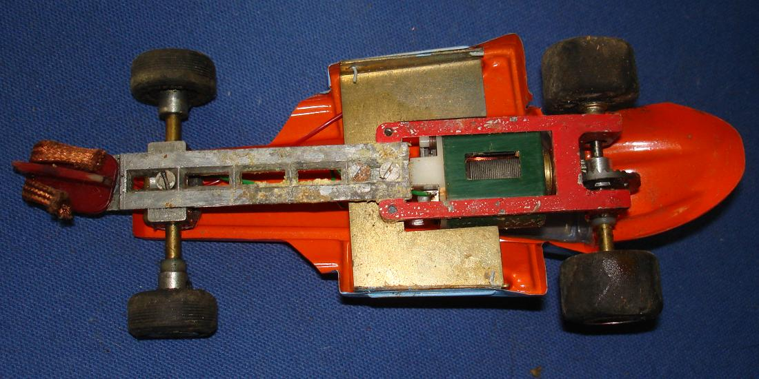 Vintage 1:24 Scale Slot Car Racing Custom Chassis Lexan Body Sprint Car Thingie Chassis