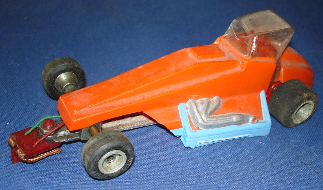 Vintage 1:24 Scale Slot Car Racing Custom Chassis Lexan Body Sprint Car Thingie
