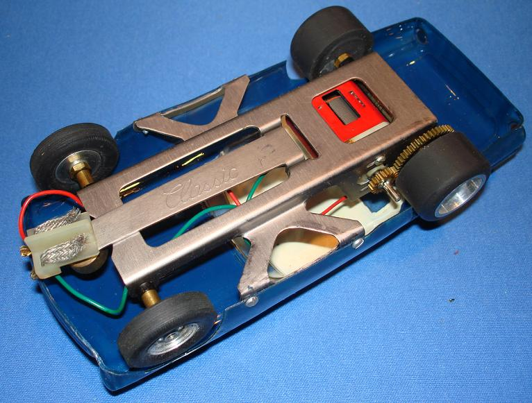 CLASSIC 1/24 SCALE SLOT CAR RACING CHASSIS CUSTOM TBIRD FORD THUNDERBIRD BODY
