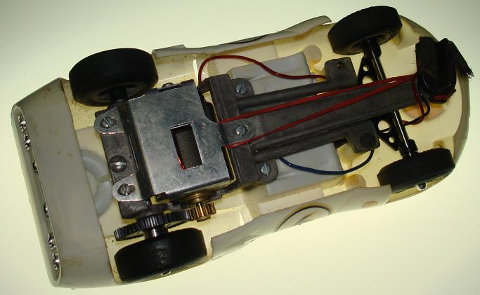 COX 1:24 Scale Chaparral 2D Slot Car Body Chassis