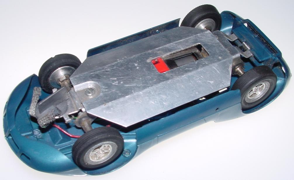 Monogram 1:24 Scale Blue McLaren Elva Slot Car Pan Chassis