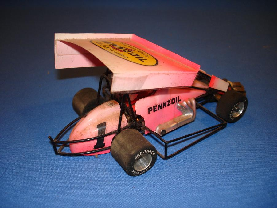 Unknown scratch built 1 24 slot cars pennzoil wing car Wing motors automobiles