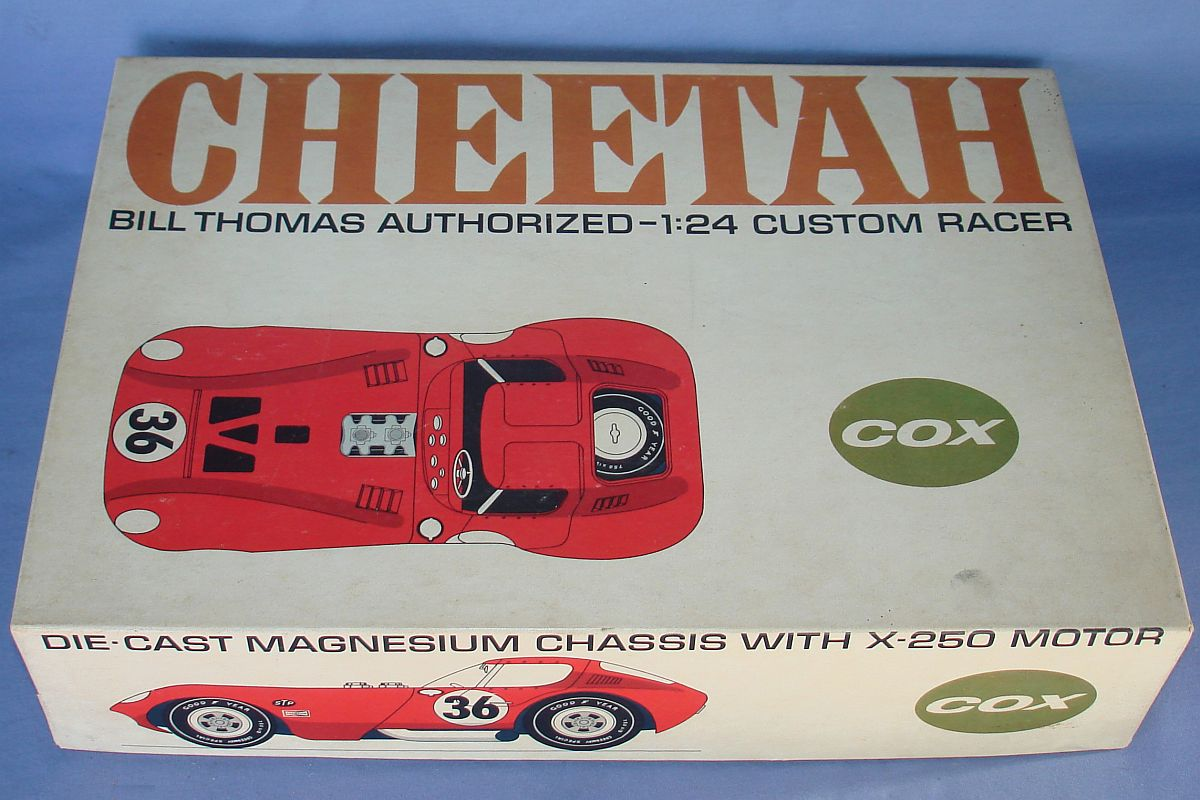Cox 1:24 Scale Slot Car Racing Red Bill Thomas Cheetah Body Kit Lot Box