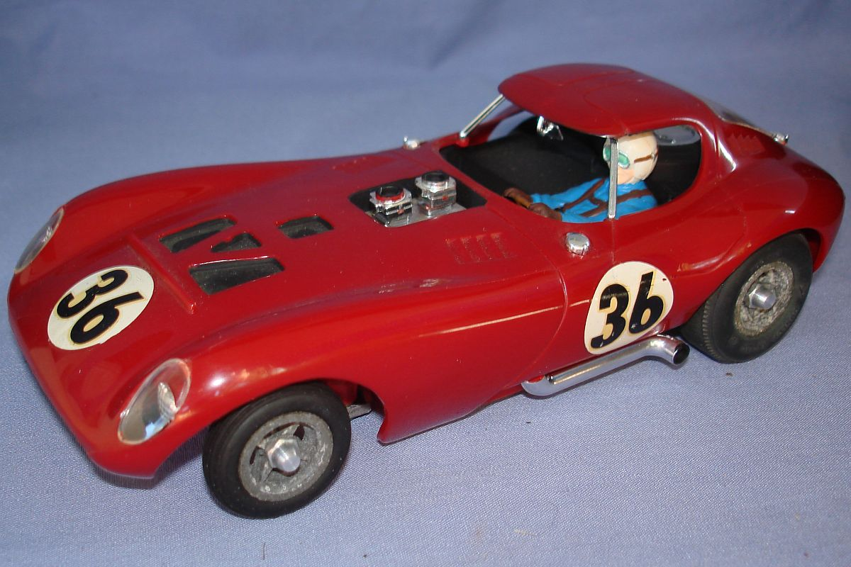 Cox 1:24 Scale Slot Car Racing Red Bill Thomas Cheetah Hood