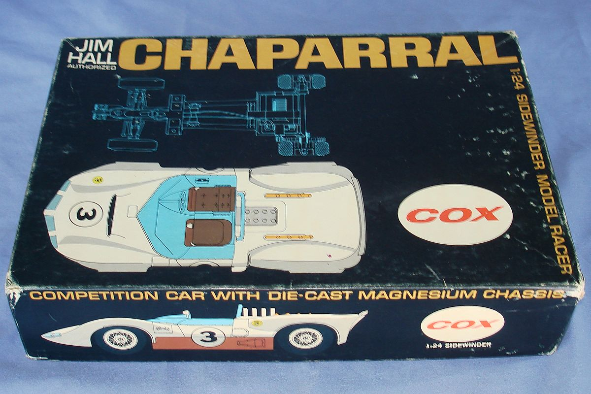COX 1:24 Scale Slot Car Racing Jim Hall Chaparral Sidewinder Chassis Lot Box