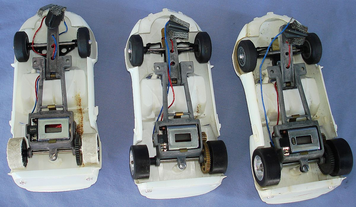 COX 1:24 Scale Slot Car Racing Jim Hall Chaparral Sidewinder Chassis & Motors