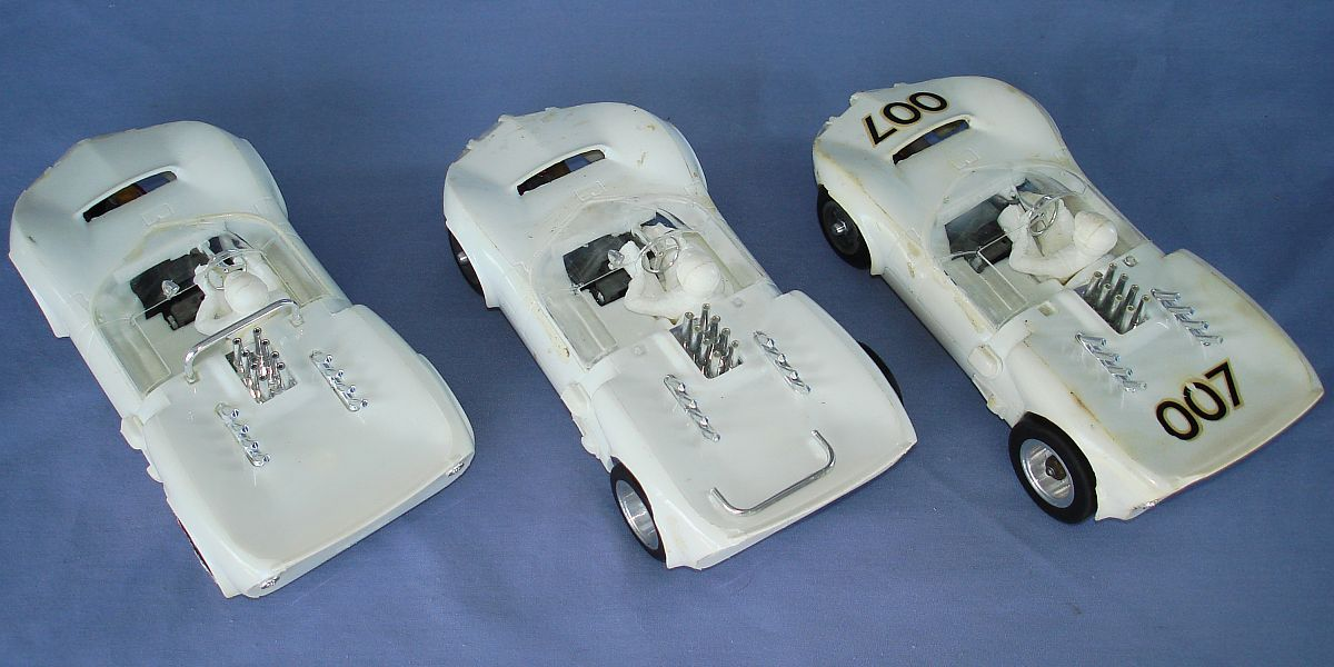 COX 1:24 Scale Slot Car Racing Jim Hall Chaparral Sidewinder Chassis Lot Exhaust Pipes