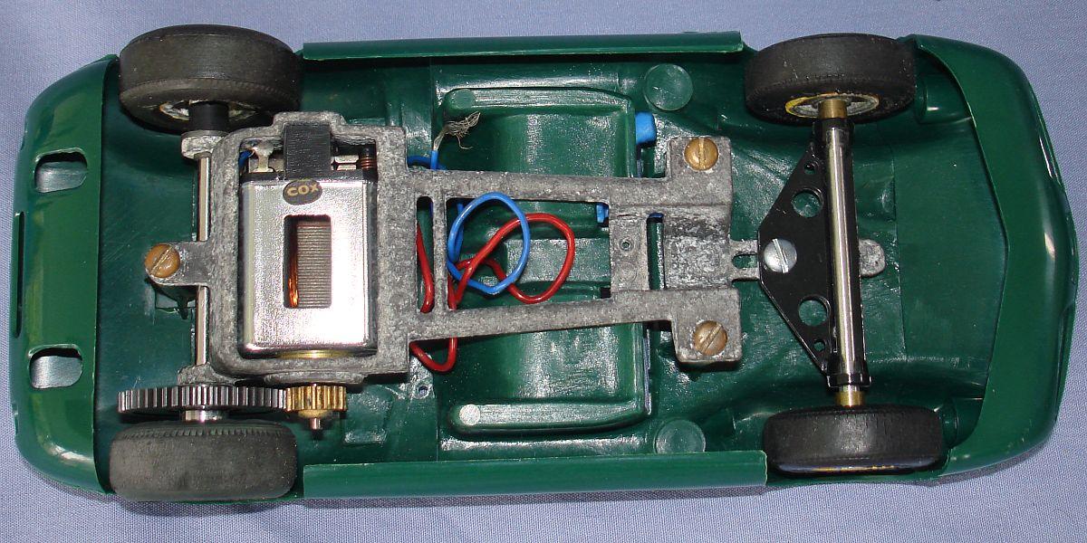 COX 1:24 Scale Slot Car Racing Jim Clark Lotus 40 Sidewinder Chassis & Motor