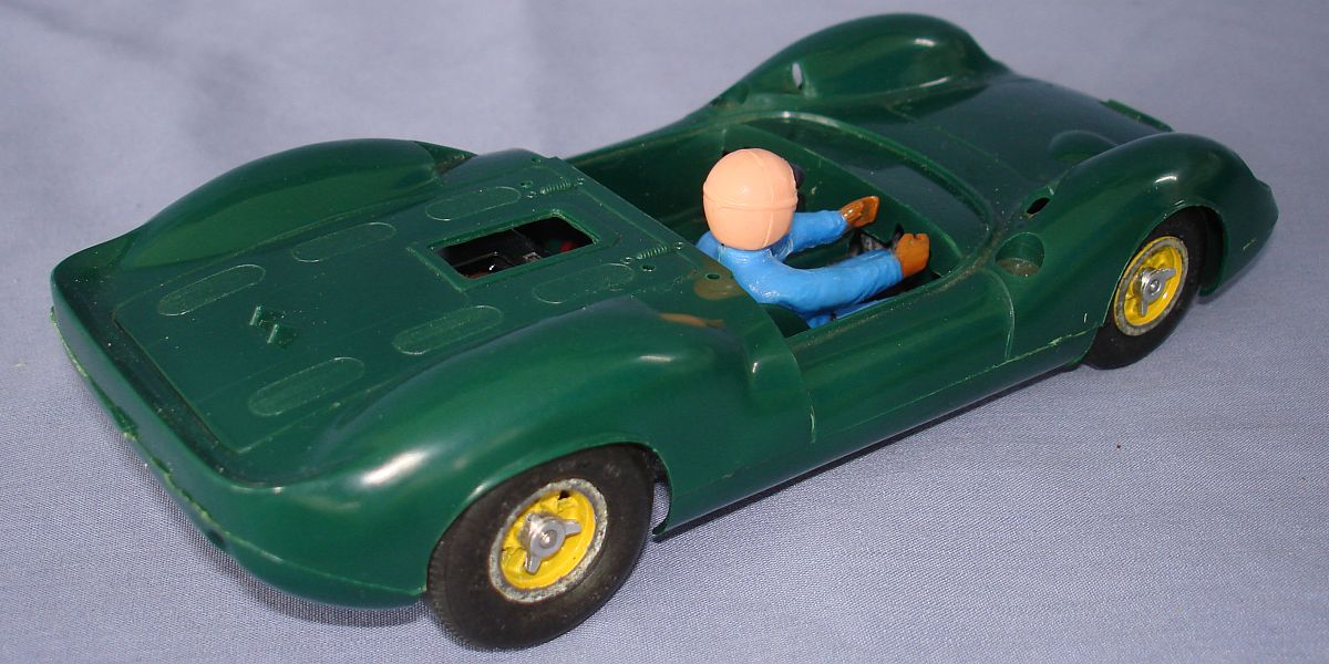 COX 1:24 Scale Slot Car Racing Jim Clark Lotus 40 Sidewinder Chassis Exhaust