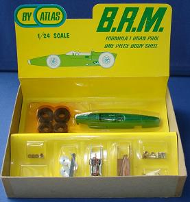 Atlas 124 Formula 1 BRM MIB Slot Car Kit Contents