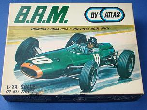 Atlas 124 Formula 1 BRM MIB Slot Car Kit Lid