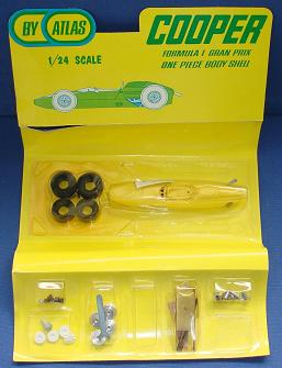 Atlas 124 Formula 1 Cooper NMIB Slot Car Kit Contents