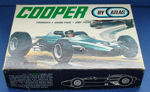Atlas 124 Formula 1 Cooper NMIB Slot Car Kit Box