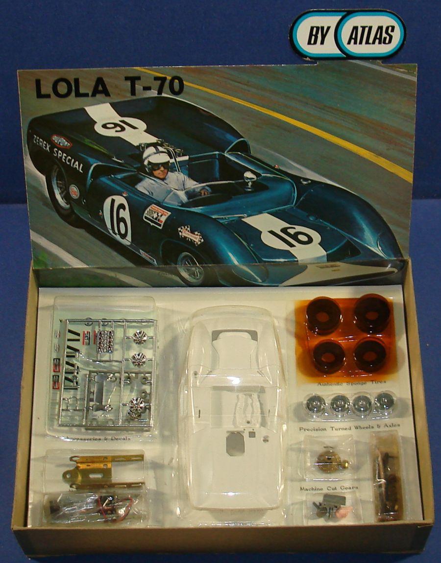 Atlas 1:24 Scale Lola T70 Slot Car Racing White Body Kit #1651