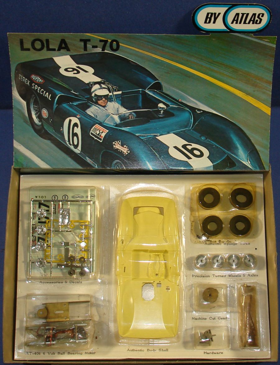 Atlas 1:24 Scale Lola T70 Slot Car Racing Yellow Body Kit #1651