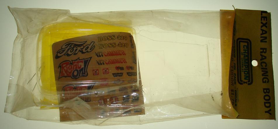 Champion Chamblee 1:24 Slot Car Racing Ford Tudor Lexan Clear Body Kit
