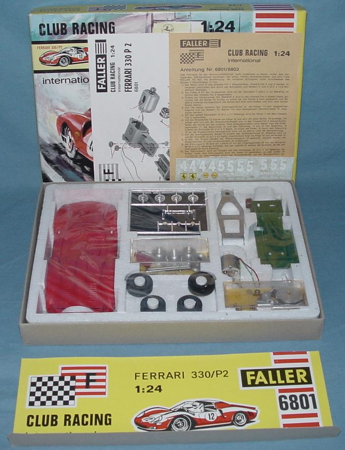 Faller 1:24 Scale Ferrari 330 P2 Slot Car Club Racing Kit 6801