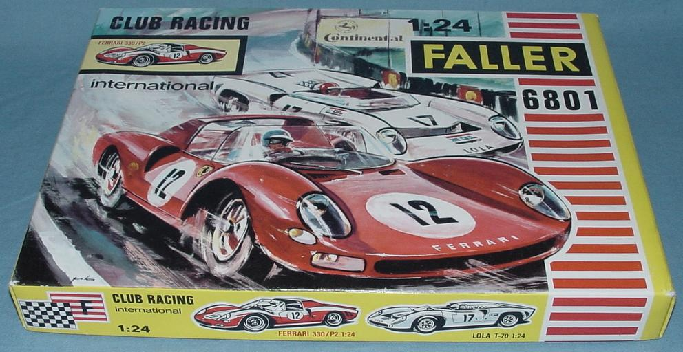 Faller 1:24 Scale Ferrari 330 P2 Slot Car Club Racing Kit 6801 Box Lid