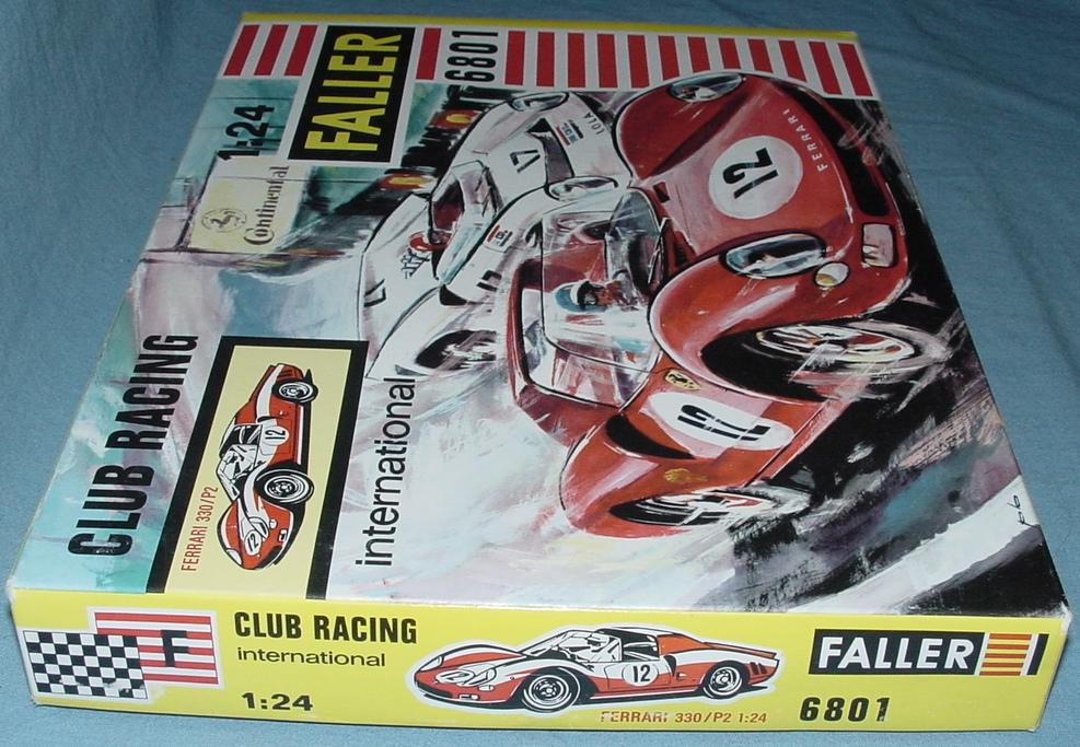 Faller 1:24 Scale Ferrari 33 P2 Slot Car Club Racing Kit 6801 Box Lid End Flap