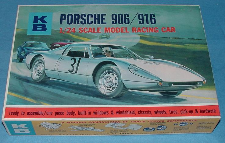 KB 1:24 Scale Porsche 906 916 Slot Car Racing Body Model Kit #1802 Box