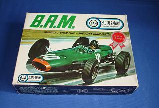 Marusan 124 Formula 1 BRM MIB Slot Car Kit Lid