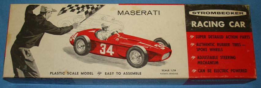 Strombecker 1:24 Maserati Slot Car Kit Box Lid