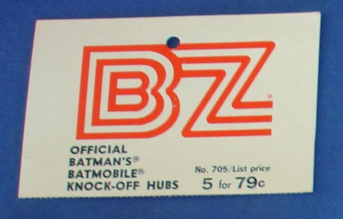 BZ 1/24 Scale Batman Batmobile Slot Car Hubs Header Card