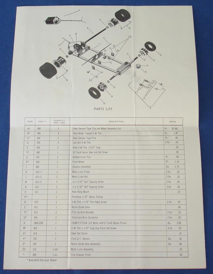 Competition 1/24 Scale CMX1250 Slot Car Chassis Instructions