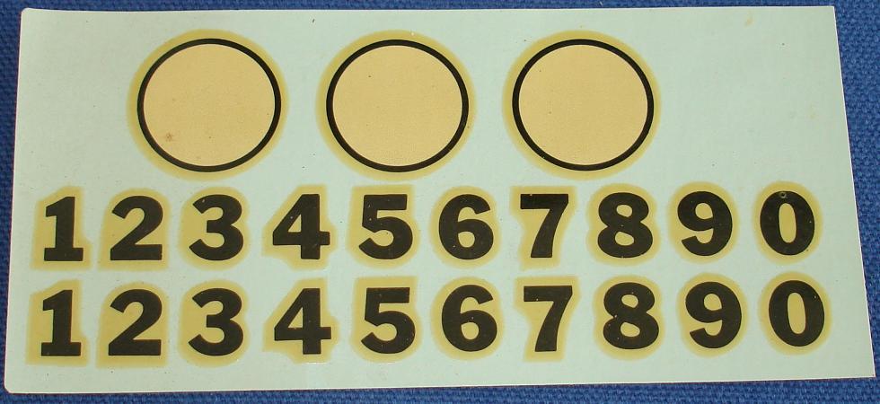 Hawk 1/24 Scale Slot Car Decal Sheet