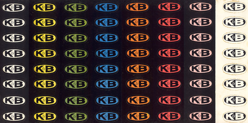 KB 1:24 Scale Slot Car Racing Decal Sheet 64 Full Color Oval Stickers
