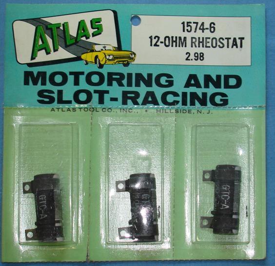 Atlas Slot Car Home Racing Parts #1574-6 Controller 12 Ohm Rheostat