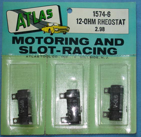 Atlas Slot Car Home Racing Parts #1574-6 Controller 12 Ohm Rheostat