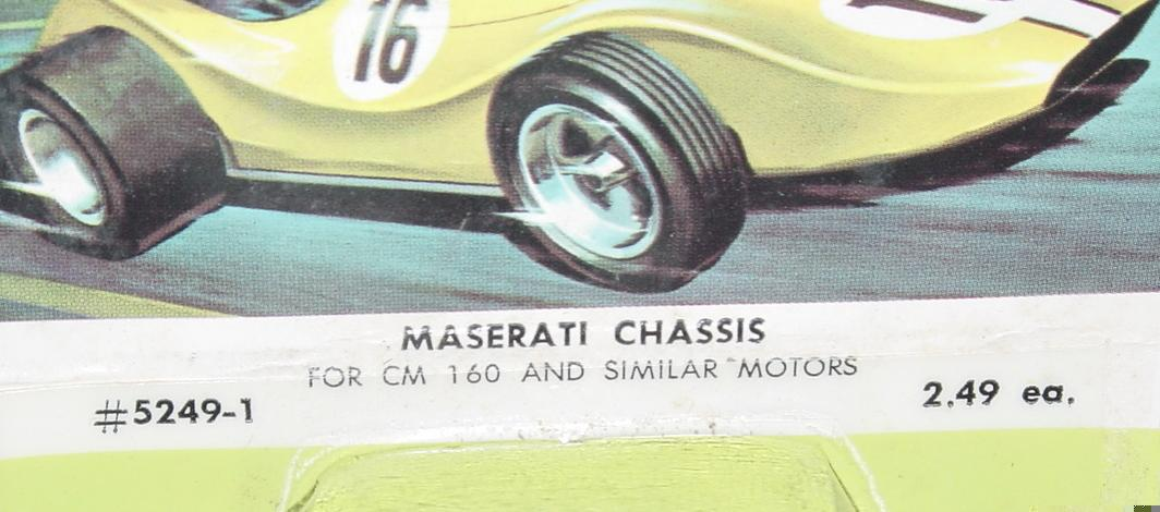 Classic Maserati 124 Slot Car Chassis Competition Parts #5249
