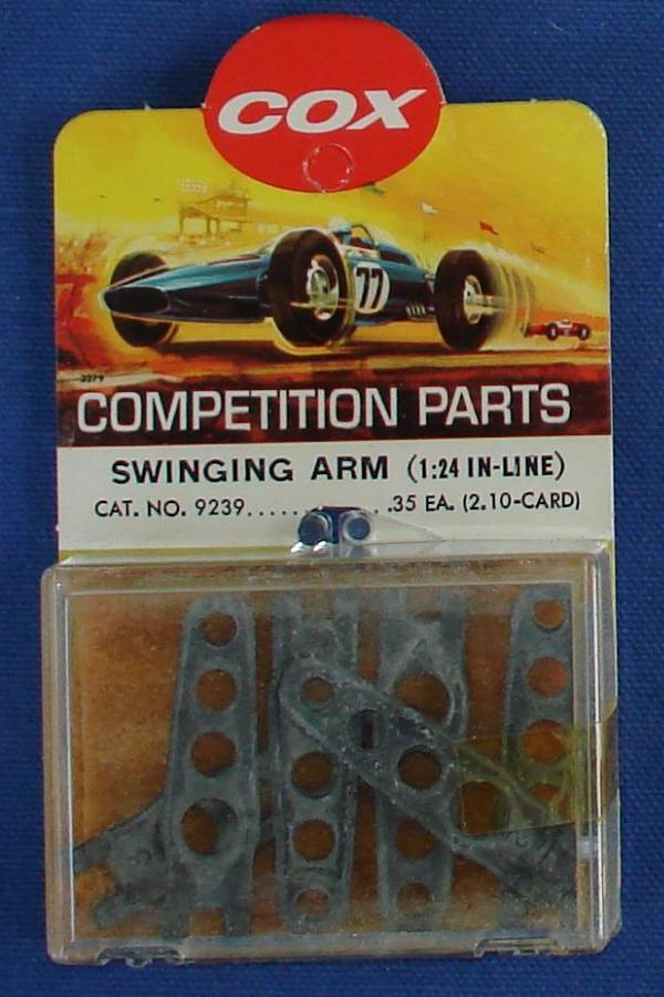 Cox 1:24 Electric Road Racing SlotCar Competition Inline Swinging Arm