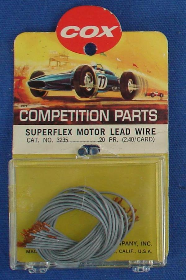Cox 1:24 Electric Road Racing Slot Car Competition Superflex Motor Lead Wire