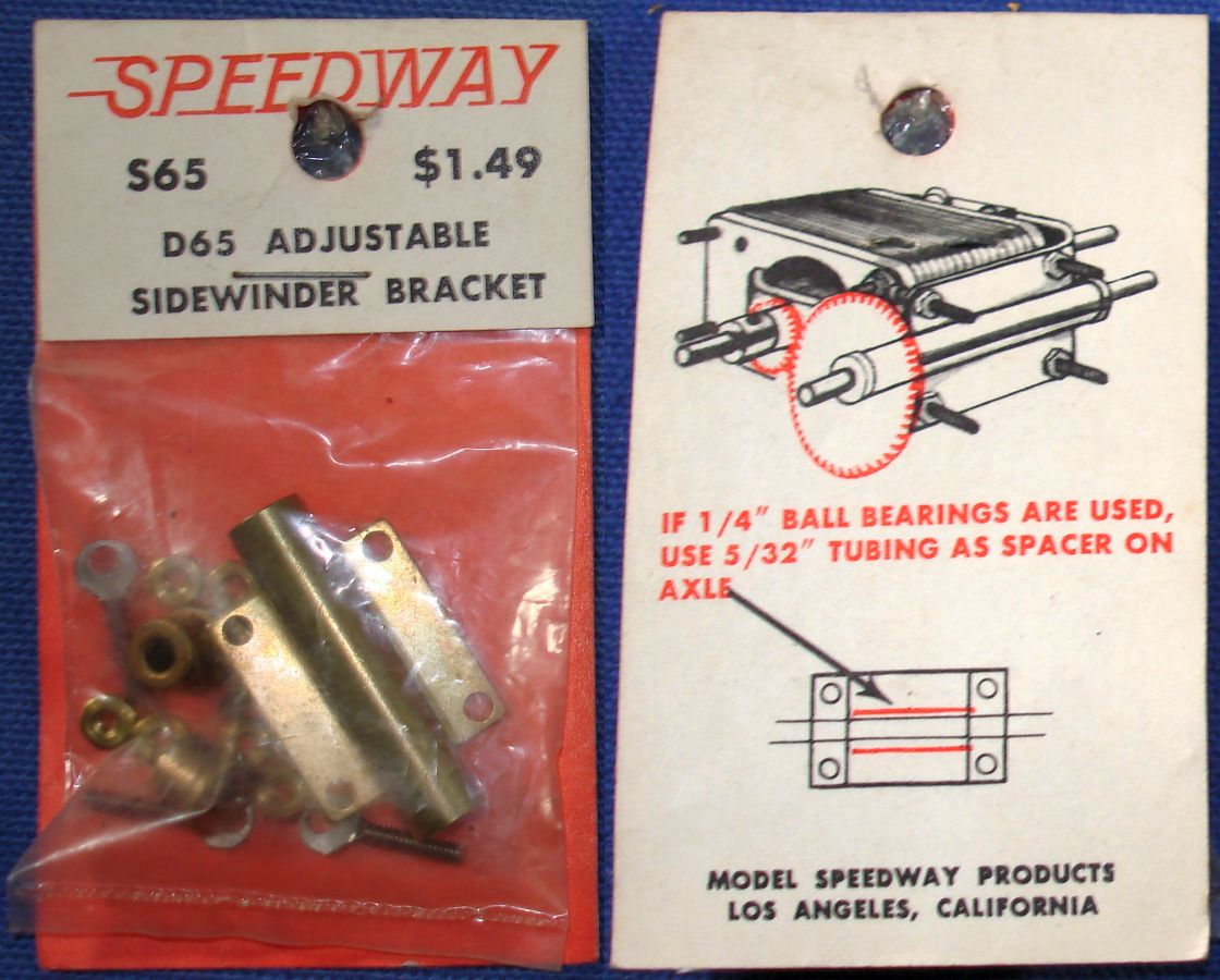 Model Speedway Products 1:24 Scale Slot Car Racing Sidewinder Chassis Bracket