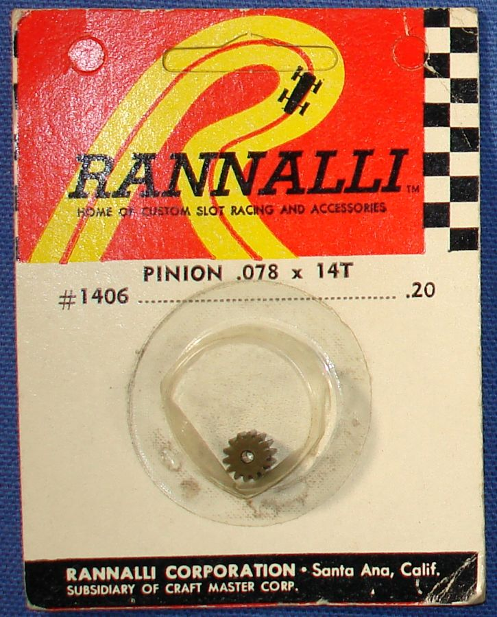 Rannalli Custom 1:24 Scale Slot Car Racing Parts 14T Pinion Gear