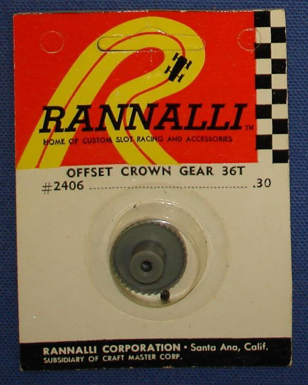Rannalli Custom 1/24 Scale Slot Car Racing Part 36T Offset Crown Gear