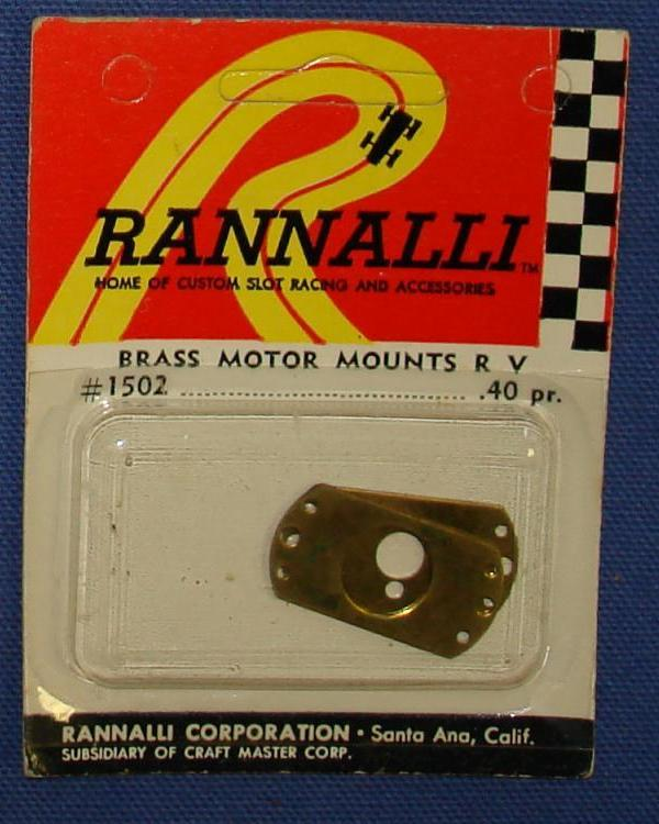 Rannalli Custom 1/24 Scale Slot Car Racing Part Brass Motor Mounts