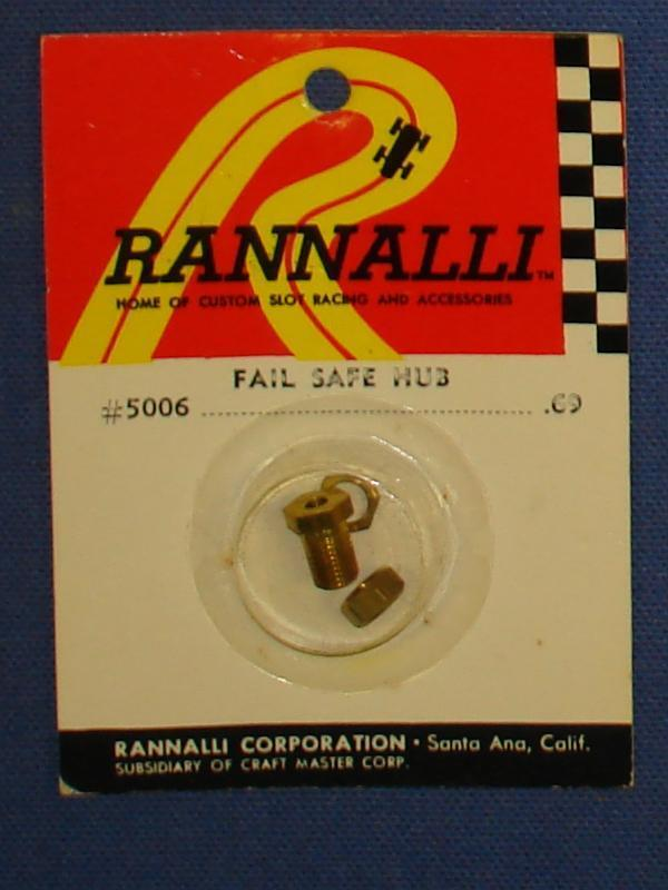Rannalli Custom 1/24 Scale Slot Car Racing Part Brass Fail Safe Hub
