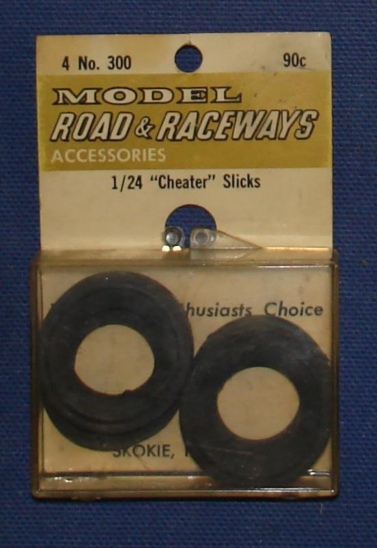 Vintage 1:24 Scale Strombecker Slot Car Racing Four Soft Cheater Slicks Tires
