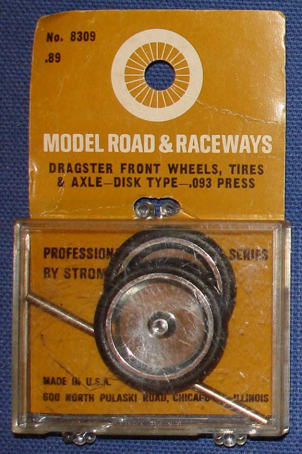 STROMBECKER 1:24 SCALE SLOT CAR ROAD RACING SPARE PARTS DRAGSTER FRONT DISK WHEELS TIRES AXLE #8309