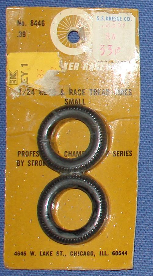 Strombecker 1/24 Electric Road Racing Slot Car Road & Race Small Tread Tires